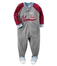 NWT ☀FOOTED FLEECE☀ CARTERS Boys Pajamas ALL STAR  New   YOU PICK   7   8    $30