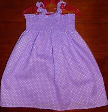 SZ 3 LAVENDER (choices) COTTON SHIRRED TOP DRESS BRAND NEW