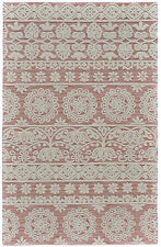 Bungalow Rose Grice Hand-Tufted Wool Dusty/Pink Area Rug