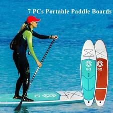 7 in 1 Portable Inflatable Stand Up Paddle Board Surfboard Fin Pump Backpack New
