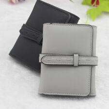 Wallet Slim Money Clip Credit Card Holder ID Business Mens PU Leather Purse