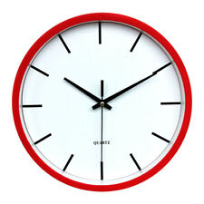 LARGE OUTDOOR GARDEN WALL CLOCK BIG 12H NUMERALS DISPLAY BATTERY POWER 25CM