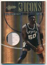 DAVID ROBINSON 2010/11 ABSOLUTE NBA ICONS SPURS 3 COLOR PATCH SP #09/10 $80+