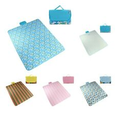71x57inch Family Camping Picnic Blanket Tote Foldable Waterproof Travel Mat