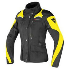 Dainese Tempest D-Dry Black Black Yellow FLuo Lady Motorcycle Jacket - Free P&P!