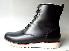 new mens UGG 'Hannen' black leather shearling lined winter BOOTS - really warm