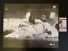 WILLIE MAYS SIGNED AUTO SAN FRANCISCO GIANTS 16X20 PHOTO SLIDING JSA AUTOGRAPHED