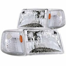 Anzo USA 111119 Ford Ranger Clear With Amber Corners Headlight Assembly - (Sold