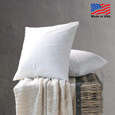Hypoallergenic Throw Pillow Insert Euro Pillows Form Inserts USA Made (Set of 6)