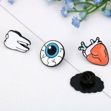 Korean Version Jewelry Human Body Brooches Brain Eyes Tooth Brooch Pin Badge HOT