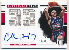 CHARLES BARKLEY 2017/18 PANINI IMPECCABLE STATS ON CARD AUTOGRAPH SP AUTO #16/33