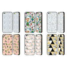 JULIA BADEEVA ASSORTED PATTERNS 3 BLACK SLIDER CASE FOR APPLE iPHONE PHONES