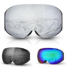 Magnet Dual Layers Lens Winter Snow Sports Goggles Ski Snowboard for Mens Womens