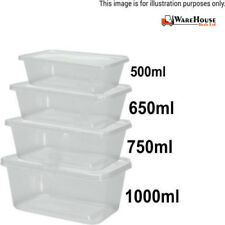 1000 Takeaway Food Containers Plastic Food Container Microwave Safe Freezer Safe