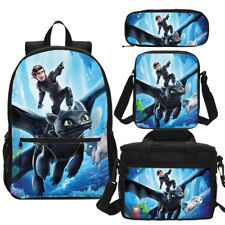 How to Train Your Dragon Backpack Kids School Bag Set Book Bag Custom Gift Lot