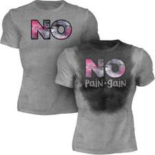 No Pain No Gain - Men's Sweat Activated Motivational Gym & Workout T-Shirt - New
