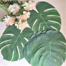 120×Large Artificial Tropical Palm Leaves Hawaiian Luau Party DIY Table Runner