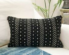 Mudcloth Pillow Cover, African Mud Cloth, Authentic Mud Cloth Pillow | Black & W