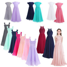 Flower Girls Dress Princess Pageant Bridesmaid Wedding Communion Party Ball Gown