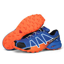 Mens Salomon Speedcross 4 Athletic Running Sports Outdoor Trainers Shoes blue