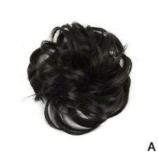 Easy to Wear Real Thick Messy Curly Bun Hair Piece Extensions Hair Scrunchi Q5G7