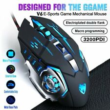 LED COMFORT USB Wired Optical Mouse Mice LED Scroll Wheel For PC Laptop Computer