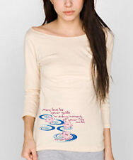 NEW American Apparel yoga Pink Lotus Paulo Coelho shirt