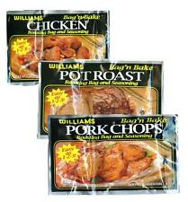 3 Williams Bag N Bake-Pot Roast,Chicken & PorkChop!