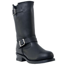 """MENS 10"""" DINGO ROB ENGINEER LEATHER MOTORCYCLE ROUND TOE BOOTS"""