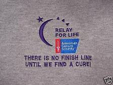 Relay For Life Custom Embroidered Zippered Hoodie -XL