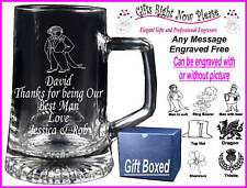 Engraved Glass Tankard Father of the Groom Gift Boxed