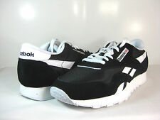 NEW REEBOK CLASSIC NYLON Black/White -6604- MENS ATHLETIC