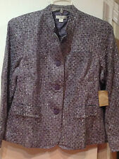 Coldwater Creek Women's Fall Winter Business tweed Boucle jacket plus1X2X 3X$110
