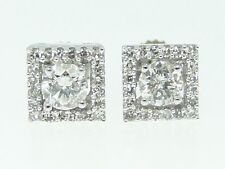 1/2 Ct Round Cut Solitaire Diamond Studs Earrings .55 C