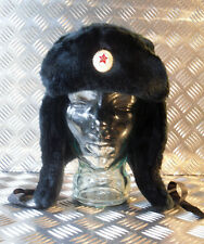 Russian / Soviet / USSR Black Cossack Hat with Ear Flaps. All Sizes - Brand NEW