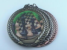 "2-3/4"" FCL Chess Medal w/Ribbon Any Qty Ships Flat Rate $5.49 in USA"