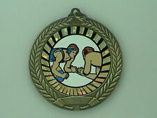 """2-3/4"""" SUN Wrestling Medal w/Ribbon Any Qty Ships Flat Rate $5.49 in USA"""