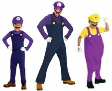 Super Mario Waluigi Wario Costumes Adult and Child STD Deluxe