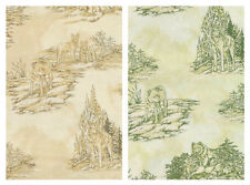 Wolf Song Scenic Wolves Nature Toile TOT Coordinate Cotton Fabric FQ or Yardage