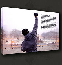 ROCKY QUOTE BOXING MOVIE CANVAS PRINT POP ART MODERN DESIGN MANY SIZES TO CHOOSE