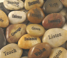 Engraved River Rocks Word Stones Sold Individually G thru N