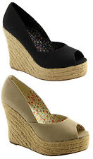WILDFIRE BLAZE WOMENS/LADIES SHOES / WEDGES / HEELS BLACK OR NATURAL AUS SIZES!