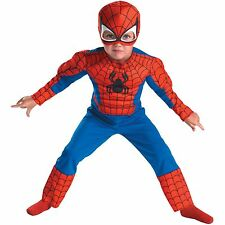 Kids Child Toddler Comic Marvel Spider-Man Superhero Muscle Halloween Costume