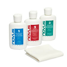 New NOVUS Plastic Polish #1 #2 & #3 Bottles (1 Each) Scratch Remover Cleaner Kit