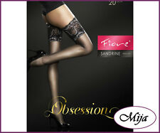 Sexy hold-ups self-supporting Lace top stockings by Fiore Sandrine 20 Denier