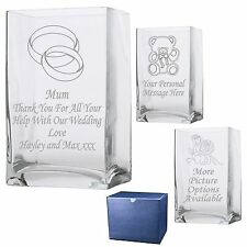 Personalised Rectangle Vase Mother of the Bride - Mother of the Groom Gift