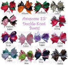 "U-Choose 3.5"" Pr of Double Knot Bows for Squeaky Shoes or Hair NOW ON CLEARANCE"
