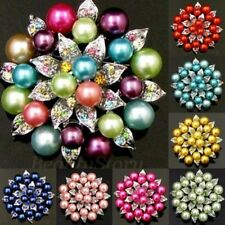 ADD'L Item FREE SHIPPING rhinestone crystal flower brooch pin bouquet