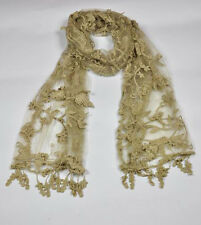 W03 Soft Cotton Yarn Women's Long Scarf Shawl Floral Lace Multicolor Optional