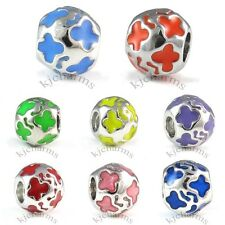 Wholesale Lot 10pcs Butterfly Silver European Spacer Charm Beads For Bracelet